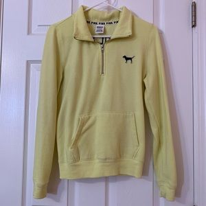 PINK Victoria's Secret Yellow Half Zip Jacket